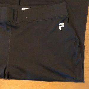 Black FILA SPORT Straight Leg Stretch Yoga Pants